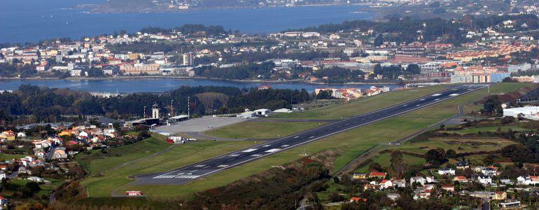 Vista aérea del aeropuerto de A Coruña