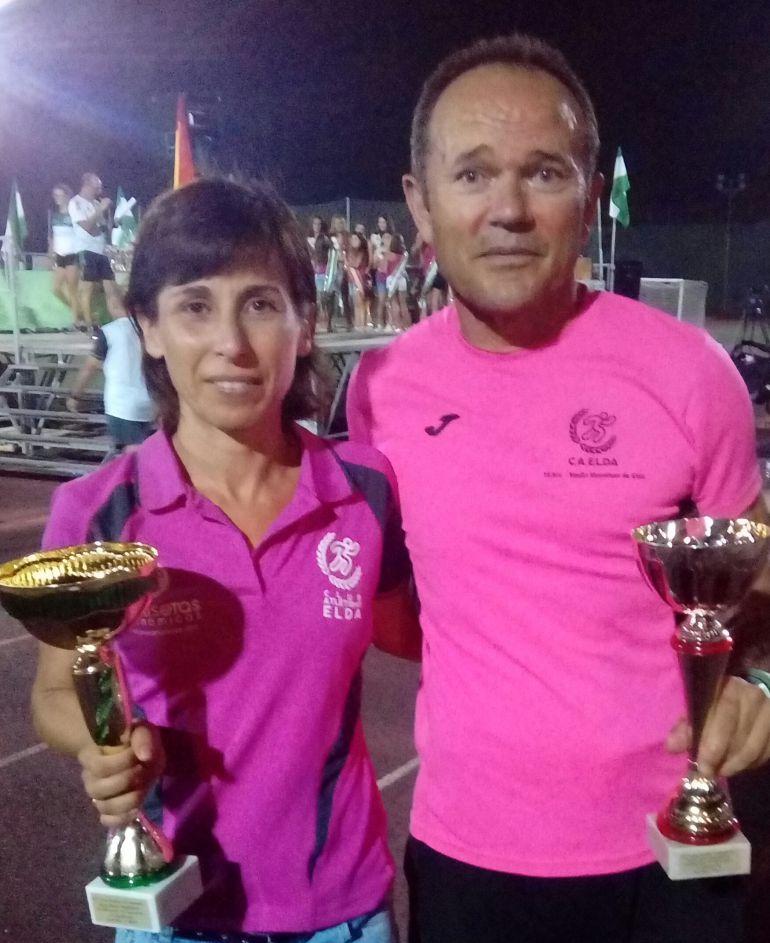Candi García y José Ferris subieron al podio en Novelda