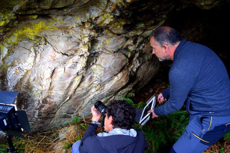 La cueva de Baleira donde se han encontrado las posibles pinturas rupestres