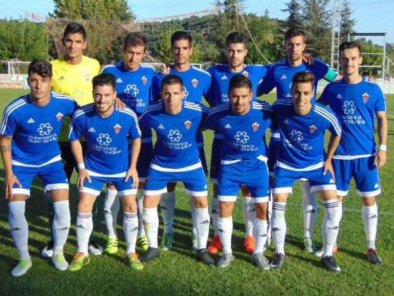 Imagen oficial del club, en el partido ante la Cebrereña.