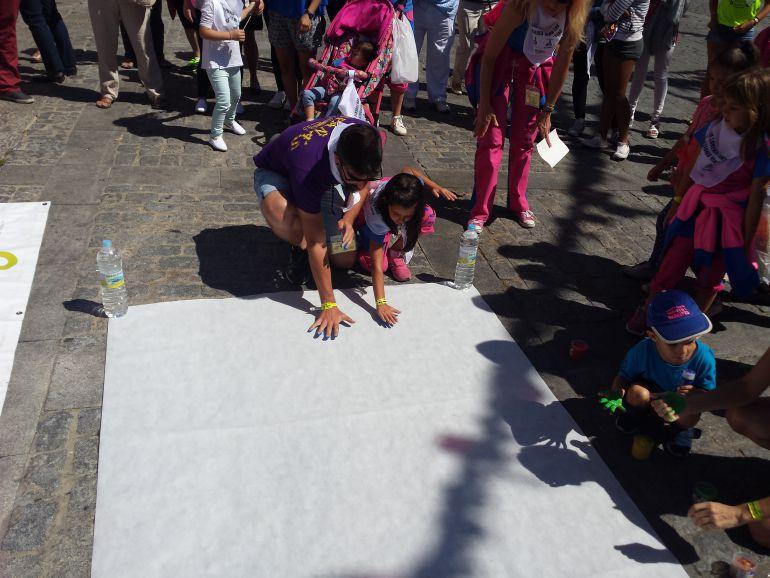Concentración contra la Violencia Machista en el barrio de San Lorenzo