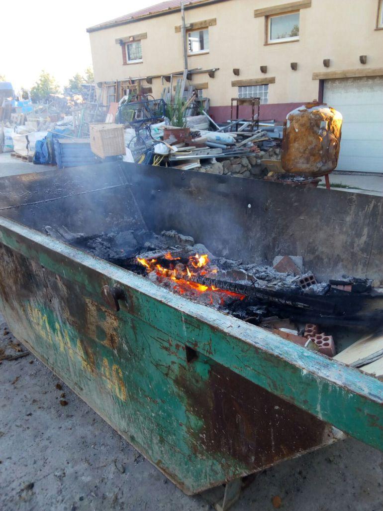 Quema ilegal de residuos de construcción