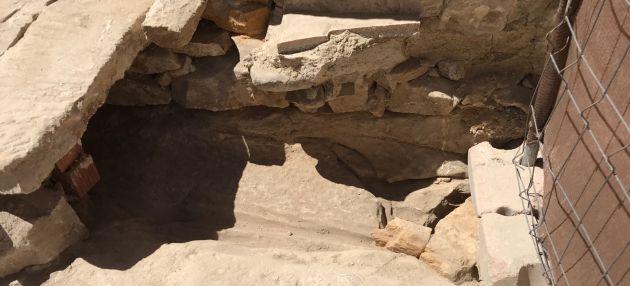 Parte de la intervención arqueológica