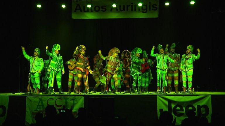 La agrupación de Martínez Ares, en su actuación el pasado año en la velada carnavalera de Úbeda