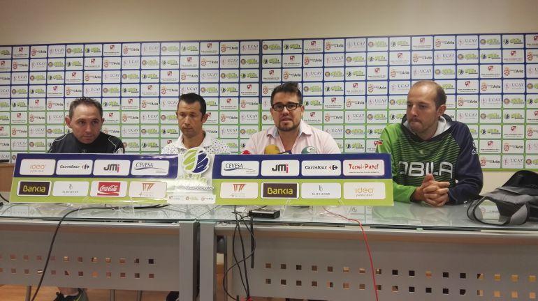 De izq a der, José Carlos Rodríguez, Raúl Álvarez, Rodrigo Martín y Mauricio Velayos