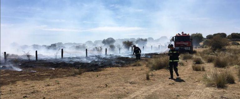 El incendio ha afectado a unas tres hectáreas de pasto