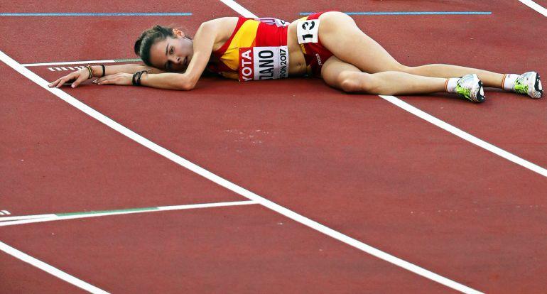 """Ana Lozano Mundial Atletismo Londres 2017: Ana Lozano: """"Me lo dejé todo"""""""