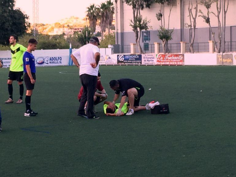 Mariano Gancedo fue uno de los jugadores del Eldense que sufrió la dureza del Calpe