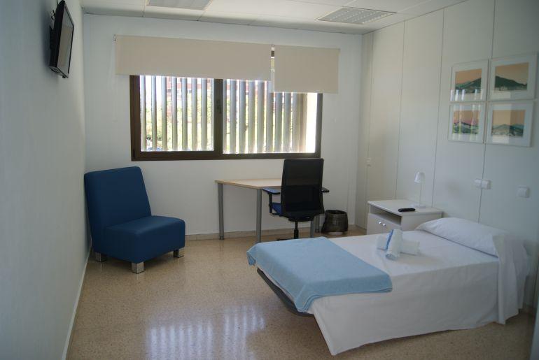 Una de las habitaciones de la residencia