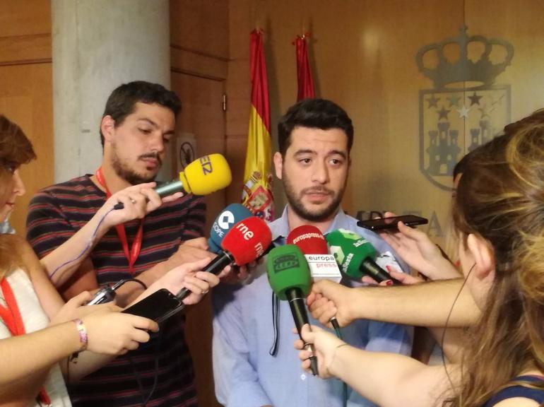 César Zafra, portavoz adjunto en la Asamblea de Madrid por Ciudadanos.