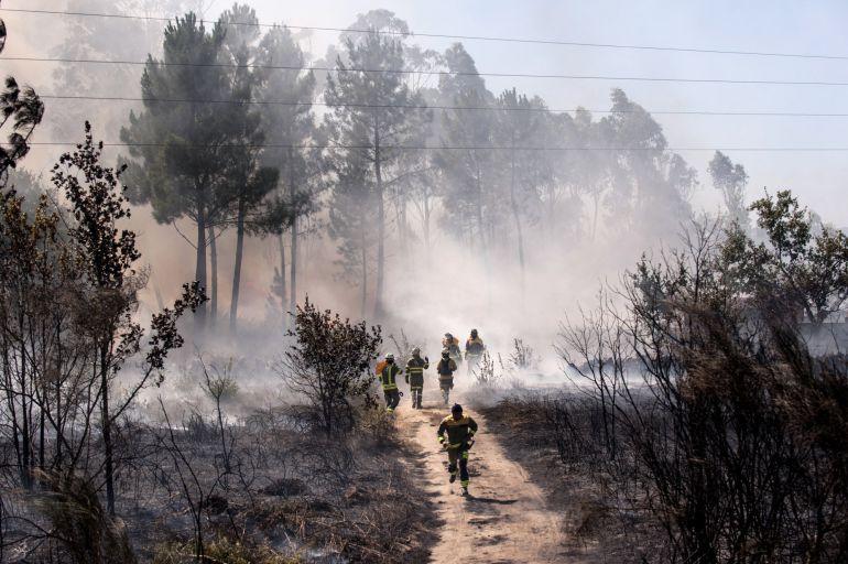 Las brigadas desplegadas en Maside