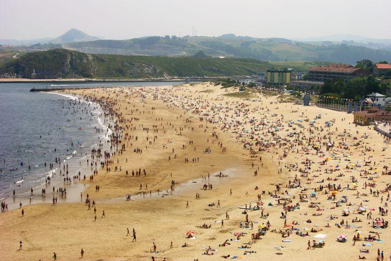 Playa de la Concha, en Suances.