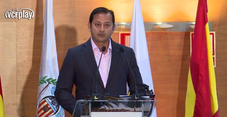 El presidente Anil Murthy en Alzira