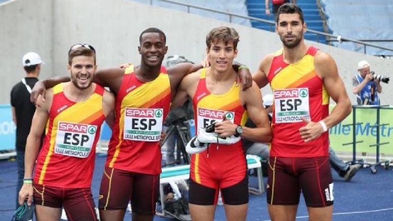 El toledano Lucas Búa, en la final de Relevos 4x400 de los Mundiales de Atletismo