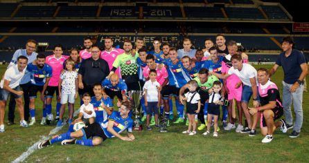 El Hércules consigue el Trofeo Ciudad de Alicante tras ganar 2-1 al Rayo