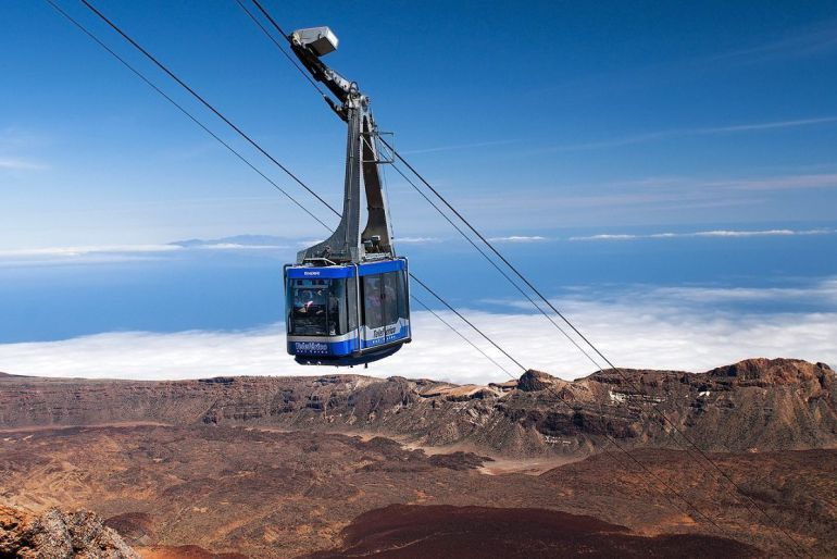 Huelga de los trabajadores del Teleférico del Pico del Teide
