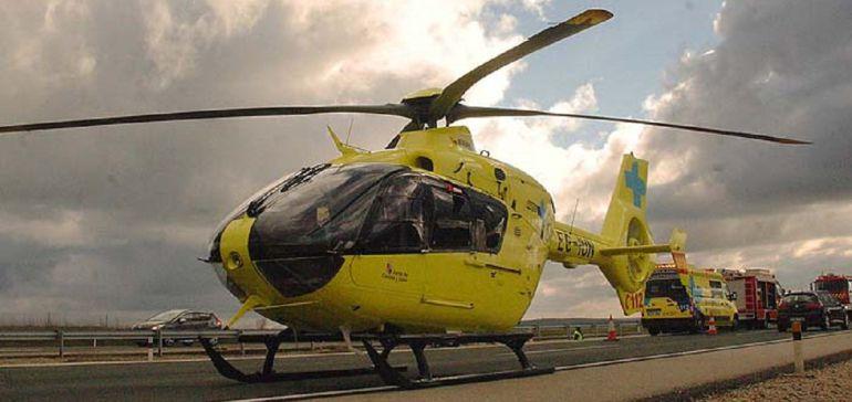 Helicóptero que intervino en el accidente