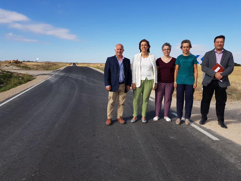 La presidenta de la Diputación ha visitado la carretera