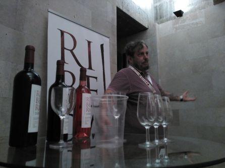 Flequi Berruti en una de las catas didácticas de Sonorama Ribera