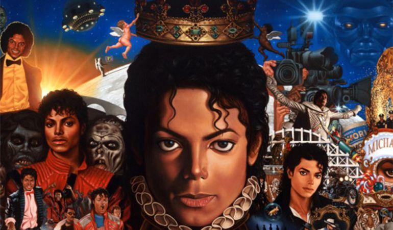 La portada del disco 'Michael' es un homenaje a las diversas caras del Rey del Pop