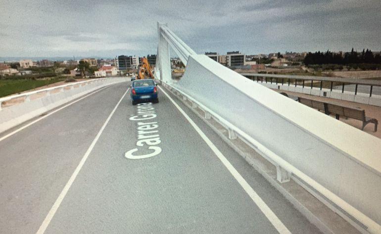 Lo pont Lo Passador, en una imatge de Google Maps.