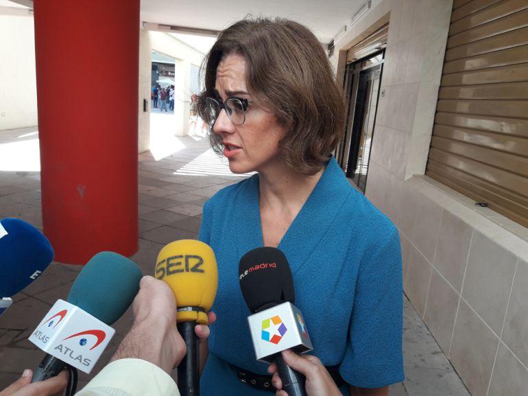 María Castillo, abogada de Juana Rivas, a la salida de los juzgados.
