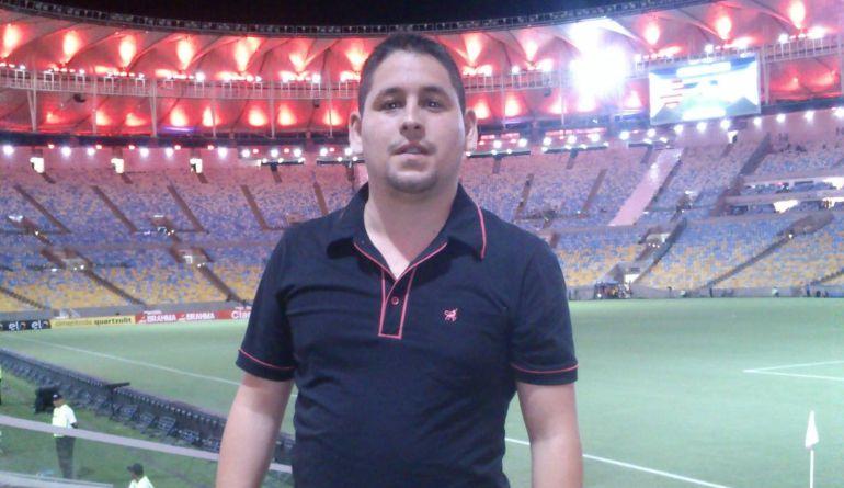 Gonzalo Bobadilla en un partido en Maracaná