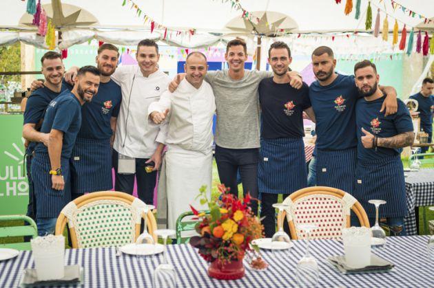 El equipo de Nadela en un catering en Pull&Bear