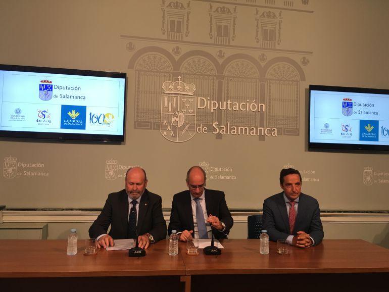 Ernesto Moronta, Javier Iglesias y Juan Manuel Corchado
