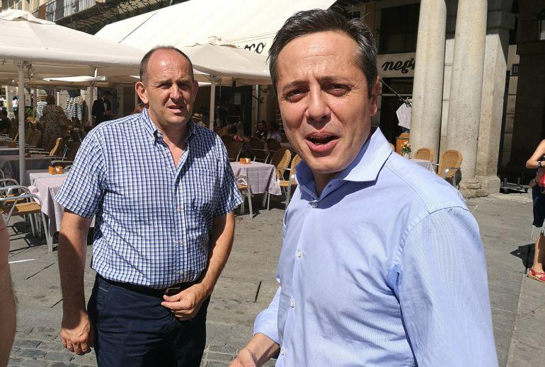 José Luis Aceves y José Bayón son desde hoy precandidatos a dirigir el partido socialista en Segovia