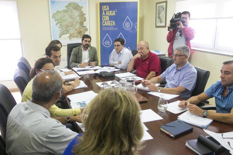 Momento de la reunión de la Oficina da Seca
