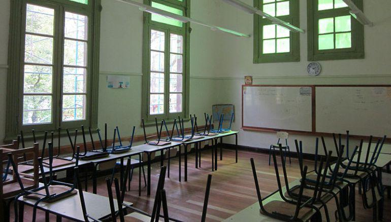 Imagen de archivo del aula de un colegio.