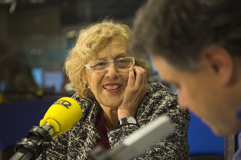Imagen de archivo de Manuela Carmena en una entrevista en La Ventana de Madrid.