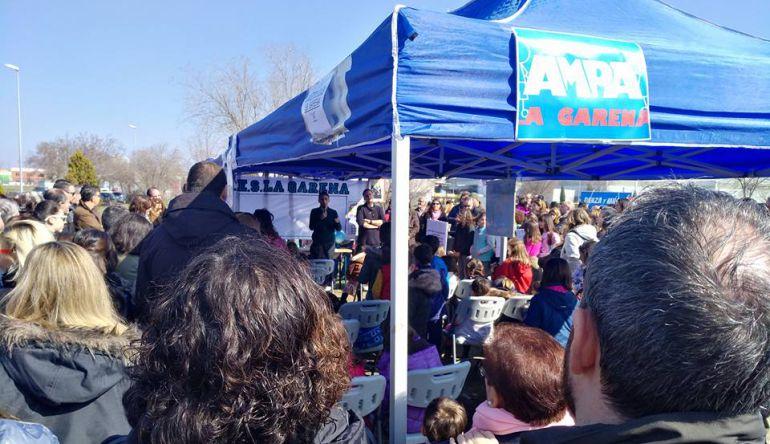 Movilización para exigir la construcción de un IES en La Garena