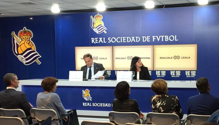 Aperribay durante la rueda de prensa ofrecida en Anoeta