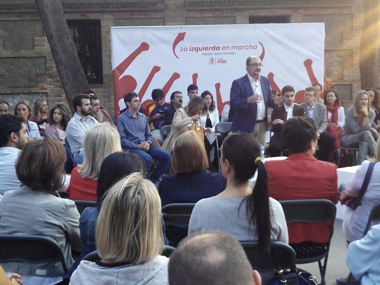 """""""La izquierda en marcha"""" es el lema elegido por la candidatura de Javier Lambán"""