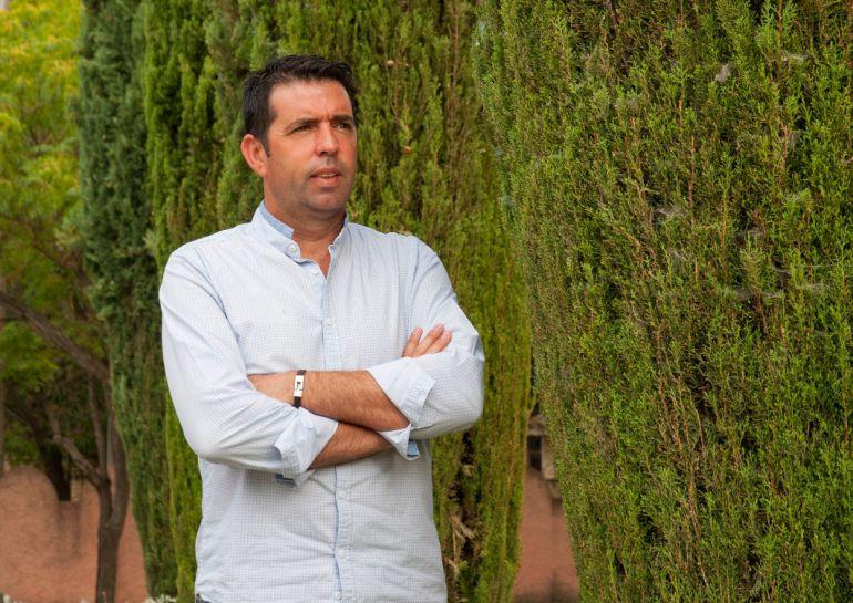 Dionisio Jiménez durante la entrevista