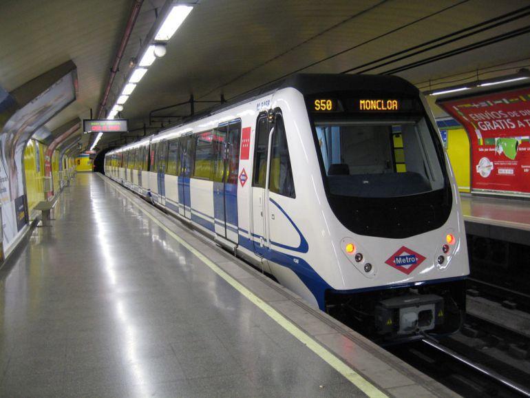 Un tren de Metro de Madrid