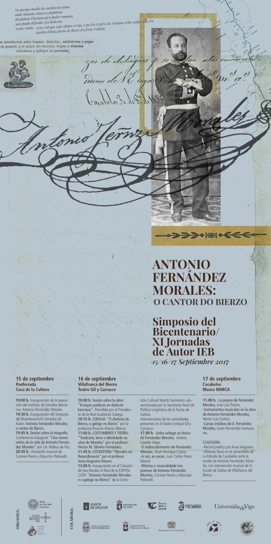El IEB dedica las XI Jornadas de Autor a Antonio Fernández Morales