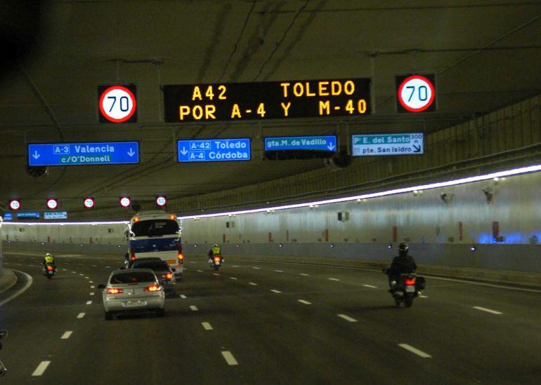 112 cámaras menos de las pagadas en los túneles de la M-30