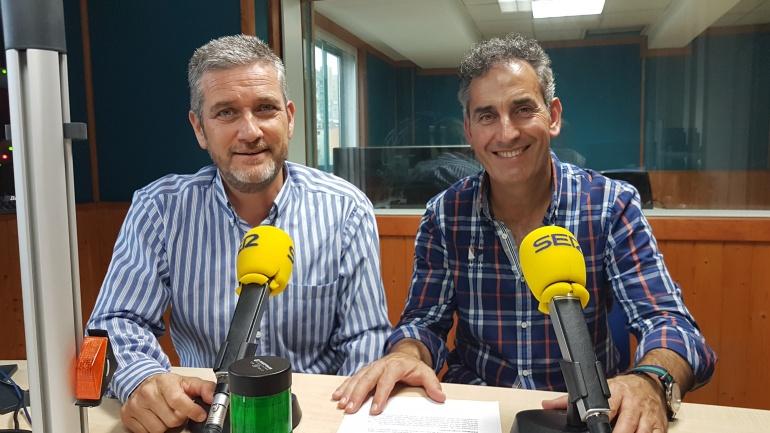 Javier Ceruti y José Ángel San Martín en el estudio principal de la Ventana
