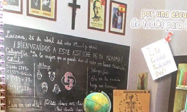 Imagen de la portada de la agenda escolar de Lucena del curso 2017-2018.