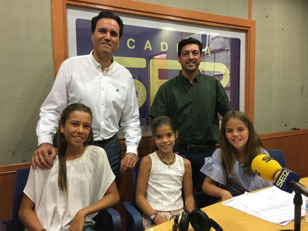 Manuel Castañón, Antonio Aguilera, Irene, Eva y María