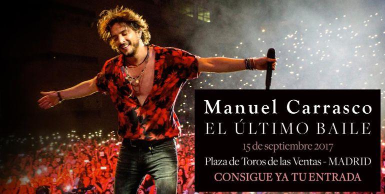 Foto publicitando el concierto de Manuel Carrasco en la Plaza de Toros de las Ventas