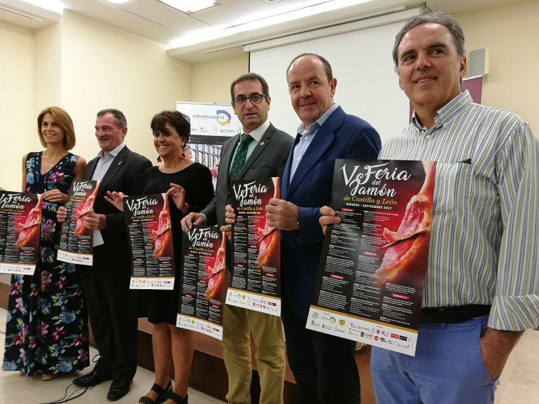 Presentación de la V Feria del jamón que se celebra el próximo fin de semana