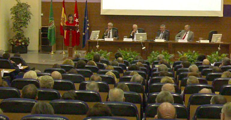 La catedrática Inés Fernández Ordóñez, durante la inauguración del curso académico este martes