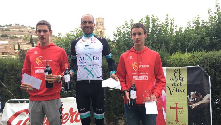 Los hermanos Izquierdo, Jaime (i) y Alfonso (d), fueron segundo y tercero en Burgos.