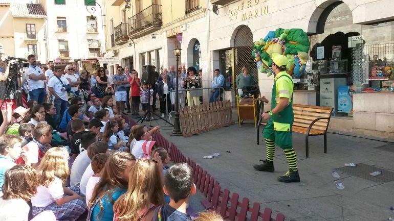 El Encuentro de Artistas Callejeros es uno de los principales atractivos de los días laborables de las fiestas patronales de Aranda