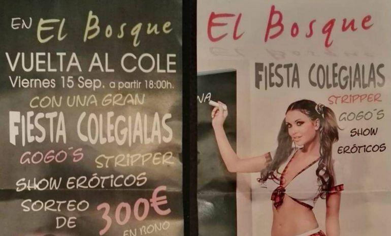 Denuncian una campaña de publicidad de un club de alterne de Cartaya por incitar a la pedofilia: Denuncian la publicidad de un prostíbulo de Cartaya por incitar a la pedofilia