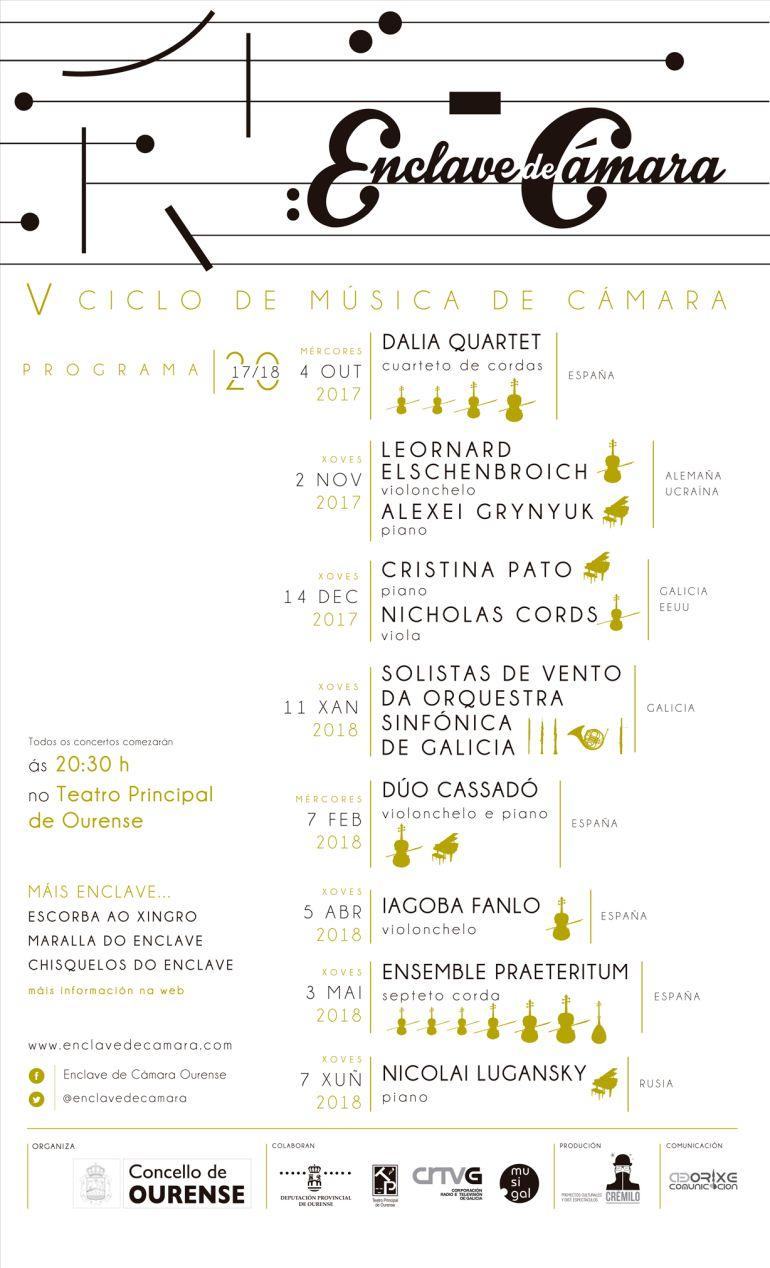 """""""Enclave de Cámara"""" traerá ao Teatro Principal as mellores composicións desde o Barroco interpretadas por músicos de primeiro nivel."""